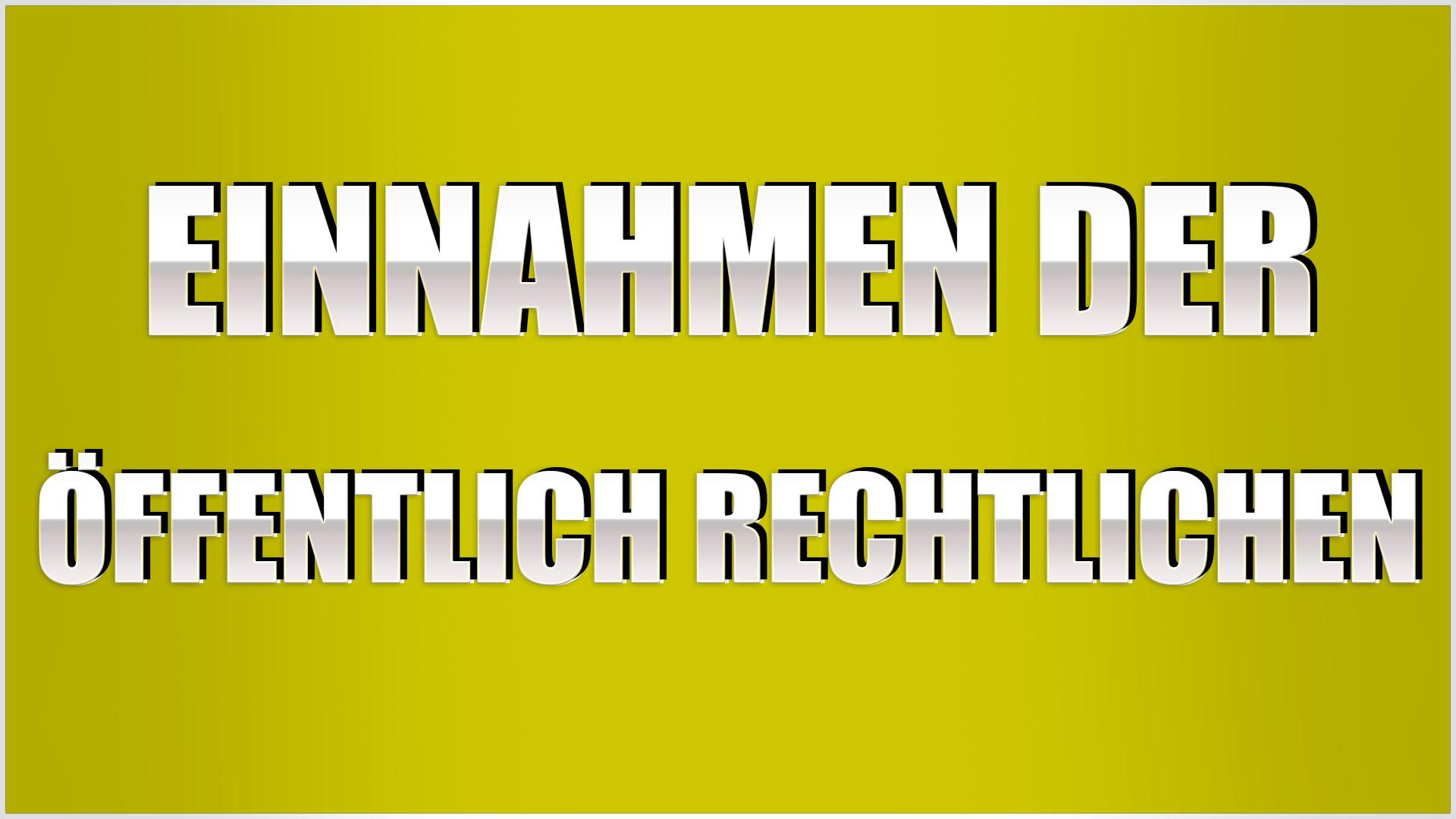 einnahmen der öffentlich rechtlichen medien deutschland